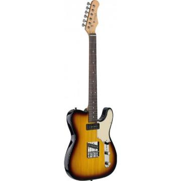 Stagg SET-CST BS Vintage T Series Custom Electric Guitar with Solid Alder Body - Brown Sunburst