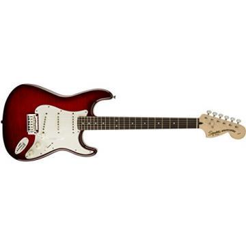 Squier by Fender Standard Stratocaster Electric Guitar - Crimson Red Transparent - Rosewood Fingerboard