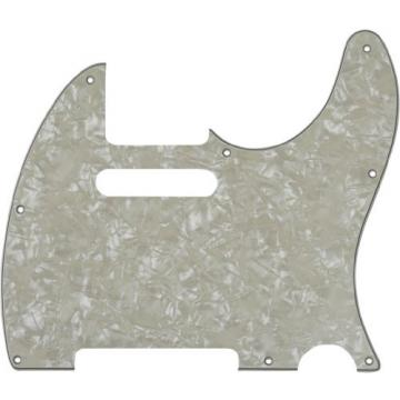 MIJ Pickguard for Telecaster '62 Aged White Pearl fa-pg-tl62-awp