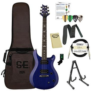 Paul Reed Smith Guitars ST22TB-Kit01 PRS SE Standard 22 Translucent Blue Electric Guitar with Gig Bag & Accessories