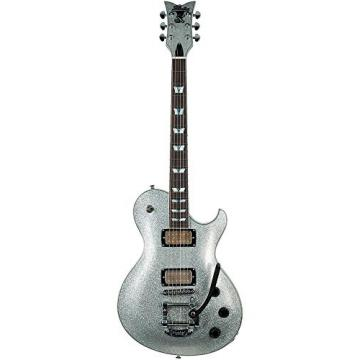 Schecter 176 Solid-Body Electric Guitar, Silver Sparkle