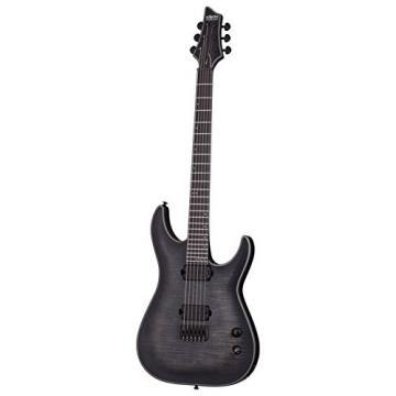 Schecter 243 Artist Series Keith Merrow KM-6 Burst Satin Solid-Body Electric Guitar, Trans Black