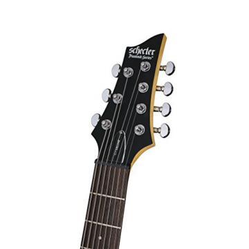 Schecter C-7 DELUXE -Satin Black 7-String Solid-Body Electric Guitar, Satin Black