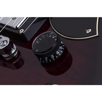 Schecter S-II CUSTOM STCB Solid-Body Electric Guitar, See-Thru Cherry Burst