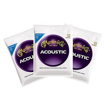 Martin M150 Bronze Acoustic Guitar Strings Med 3 Packs