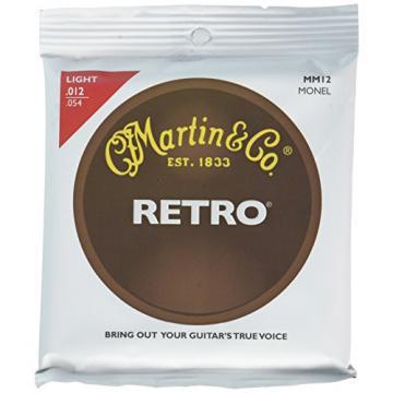 Martin MM12 Retro Monel Acoustic Guitar Strings, Light, 12-54