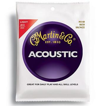 Martin M140 Bronze Acoustic Guitar Strings, Light