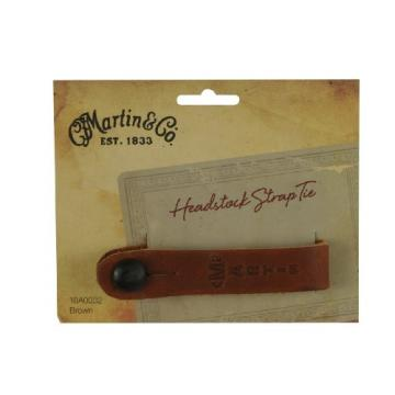C.F. Martin & Co 18A0032 Guitar Leather Head Stock Strap Tie, Brown