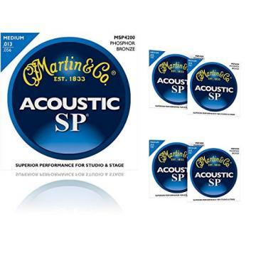 Martin MSP4200 Phosphor Bronze Medium Acoustic Guitar Strings (5 Pack)