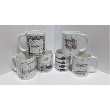 MARTIN GUITAR STRINGS Patent Coffee Mug Tea Cup Ceramic Novelty Gift Design