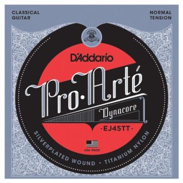 D'Addario EJ45TT ProArte DynaCore Classical Guitar Strings, Titanium Trebles, Normal Tension