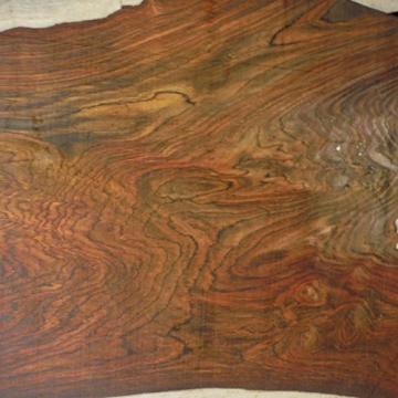super figured Cocobolo Rosewood, planed 3 inches thick ONE BOARD FOOT kiln dried