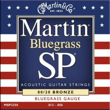 Martin MSP3250  Bluegrass SP 80/20 Bronze Acoustic Guitar Strings, Medium