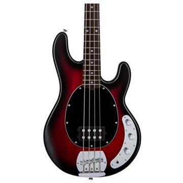 Sterling by Music Man S.U.B. Series Ray4 StingRay Bass, Ruby Red Burst Satin