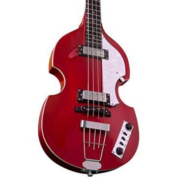 Hofner Igntion LTD Violin Electric Bass Guitar Metallic Red
