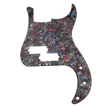 WINOMO 3-Ply Bass PB Guitar Loaded Prewired Pickguard Multicolor