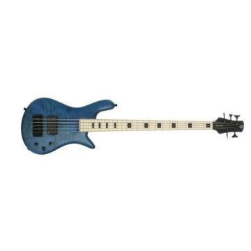 Spector RB5MMBL ReBop5 MM Trans Blue Stain Matte Bass Guitar - Maple Fingerboard