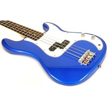 Ursa 1 RN PK EB Full Size Electric Bass Guitar Package Blue w/BA1565 Amp, Carry Bag & Video Instruction