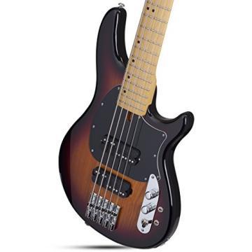 Schecter 2494 5-String Bass Guitar, 3-Tone Sunburst