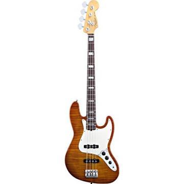 Fender Select Jazz Bass, Rosewood Fingerboard - Amber Burst