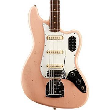 Fender Custom Shop Journeyman Relic Bass VI Electric Bass Guitar Aged Shell Pink