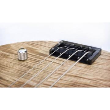 "KSM FOUNDATION Bass Bridge (4-string) ""Black Body with Nickel Bolts"""