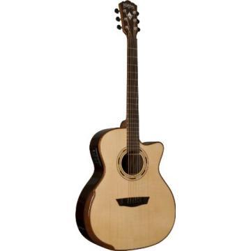 Washburn USM-WCG25SCE Comfort Series Acoustic Electric Guitar, Natural