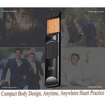 Portable Pocket Guitar Trainer Finger Trainer Chord Practice Tool - Come with Black Bag (4 Fret)