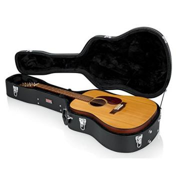 Gator Cases GWE-DREAD 12 Acoustic Guitar Case for 6 or 12 String Acoustic Dreadnought Guitars