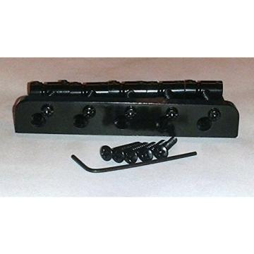REPLACEMENT FIVE STRING BRIDGE FOR JAZZ BASS® - BLACK FINISH