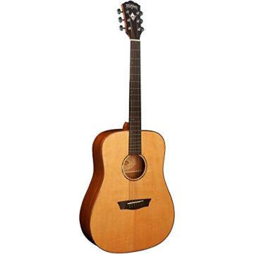 Washburn Solid Wood Series WD160SW Dreadnought Acoustic Guitar, Natural