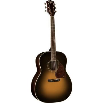 Washburn USM-LSJ743STSK Lakeside Jumbo Series Acoustic Guitar, Tobacco Sunburst