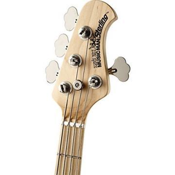 Ernie Ball Music Man Sterling HH 4-String Bass Black Maple Fretboard