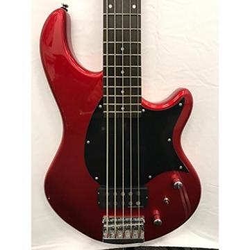 Fernandes Atlas 5 Deluxe Bass Guitar - Candy Apple Red
