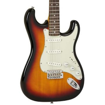 Tanglewood Double-Cut Electric Guitar with Solid Basswood Body, 3-Tone Sunburst Finish (TSB62-3TS)
