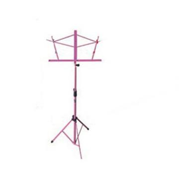 It's All About the Bass Pack-Pink Kay Electric Bass Guitar Medium Scale w/Purple Harmonica and Pink Music Stand