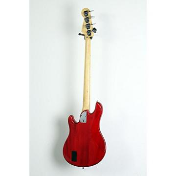 Squier Deluxe Dimension Bass IV Maple Fingerboard Electric Bass Guitar Level 3 Transparent Crimson Red 190839070029