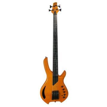 LightWave Saber Bass VL 4-String Fretless, Transparent Amber