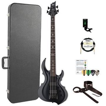 ESP LTA604FRXBLKS-KIT-2 Tom Araya Signature Series 604FRX Electric Bass, Black Satin