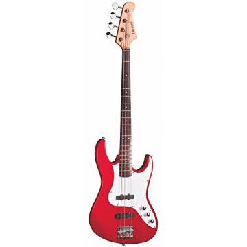 Clevan CJB-20-MRD CJB-20 Agathis 4-String Electric Bass, Metallic Red