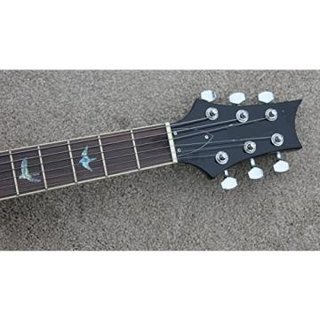 Full size electric guitar with maple venner in transparent black color