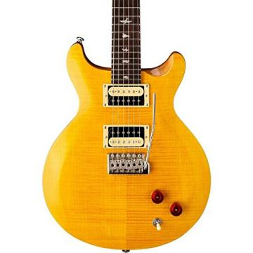 PRS CS4SY SE Santana Electric Guitar (Santana Yellow) w/ Gig Bag, Locking Stand, Tuner, and Lock-it Strap