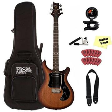 PRS S2 Standard 24 Satin, McCarty Tobacco Sunburst, Dots, with Gig Bag and Accessory Kit