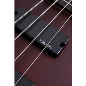 Schecter Omen-4 4-String Electric Bass Guitar Walnut Satin