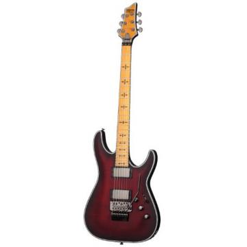 Schecter Hellraiser C-1 FR Extreme 6-String Electric Guitar, Crimson Red Burst Satin