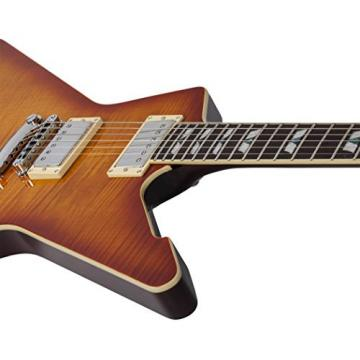 Schecter 1323 Solid-Body Electric Guitar, Honey Sunburst