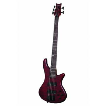 Schecter Stiletto Custom-5 Electric Bass Guitar (5 String, Vampyer Red Satin)