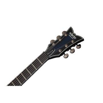 Schecter Blackjack Slim Line Series SOLO 6-String Electric Guitar, See-Thru Blue Burst, with Active Pickups