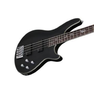 Schecter 1200 Damien Platinum 4-String Bass Guitar, Satin Black