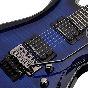 Schecter Blackjack SLS C-1 Floyd Rose Passive Guitar See Thru Blue Burst